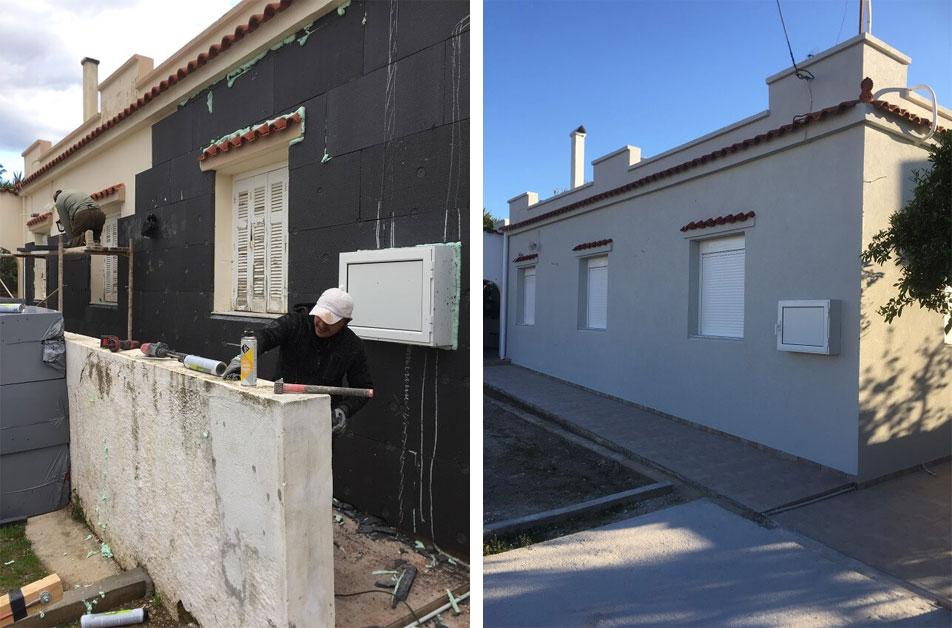 """Θερμομόνωση ταράτσας και τοίχων σε παλιά κατοικία, μέσω του προγράμματος """"Eξοικονόμηση κατ' οίκον"""""""